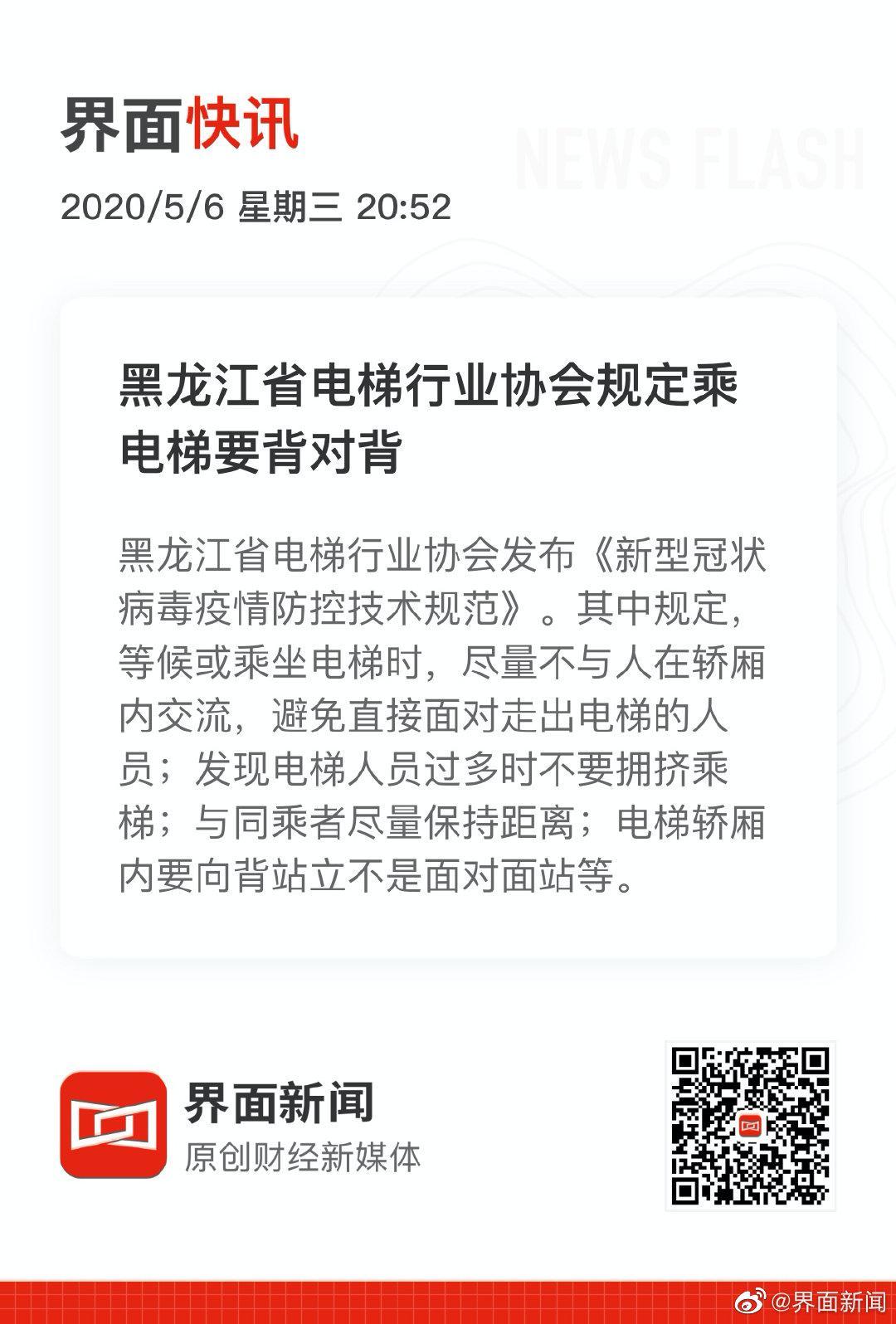 黑龙江省电梯行业协会规定乘电梯要背对背图片