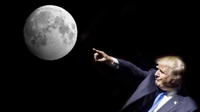 """特朗普盯上月球!起草阿尔忒弥斯协议 准备""""圈地""""采矿立规矩!"""