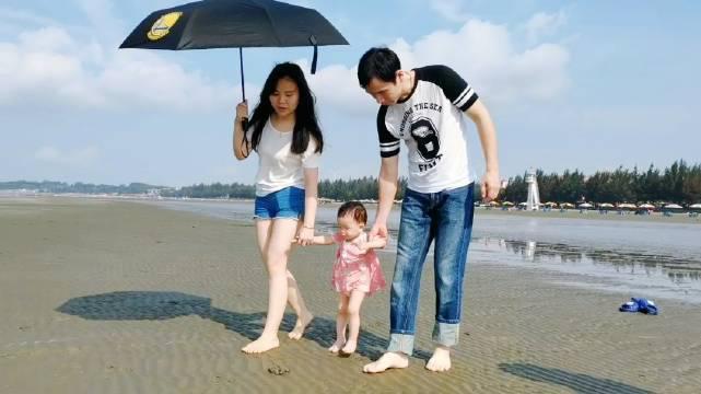 带小孩到防城港白浪滩