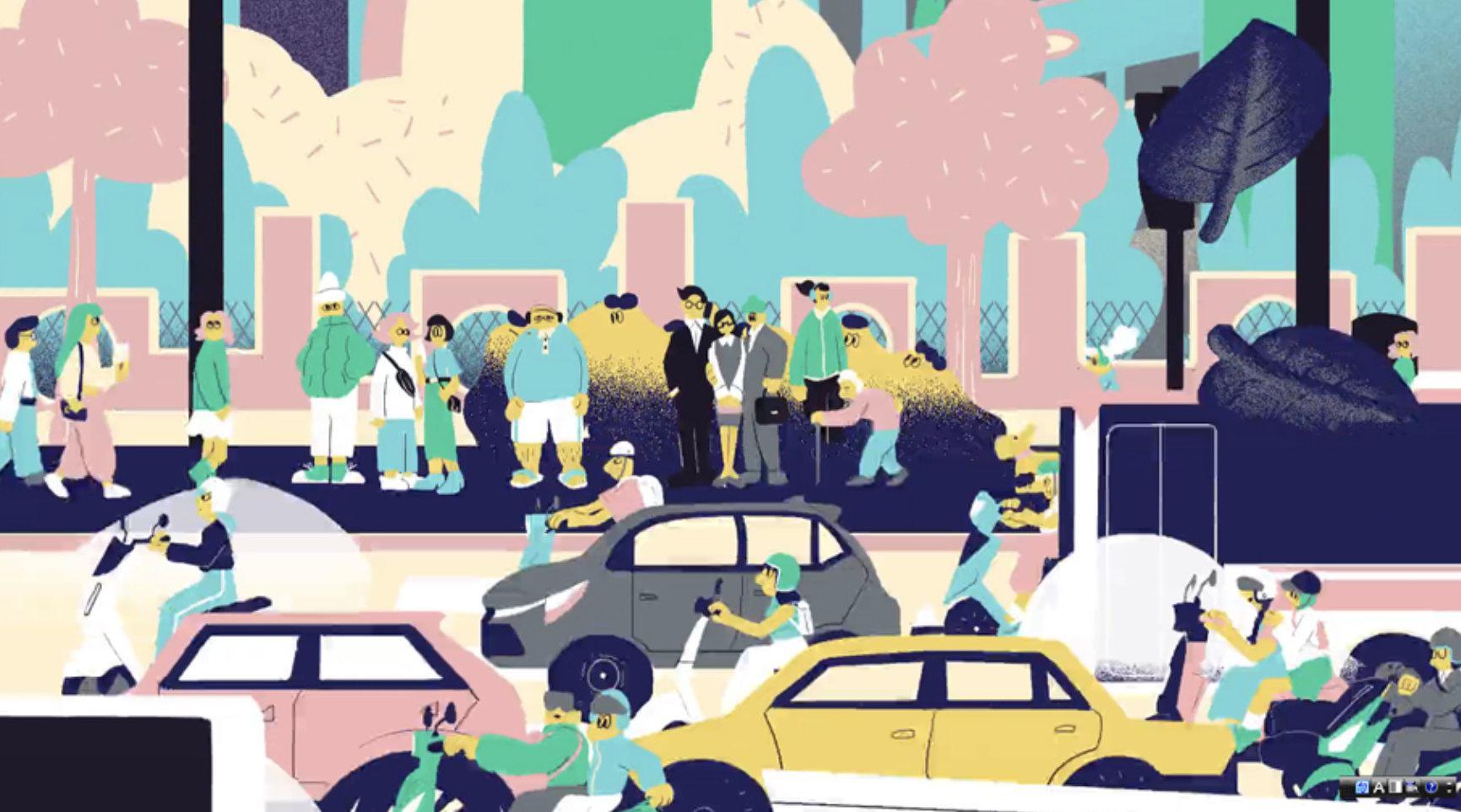 暖心手绘动画「台北捷运形象短片」🎬