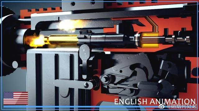 3D动画演示M16和AR-15-枪械是如何工作的