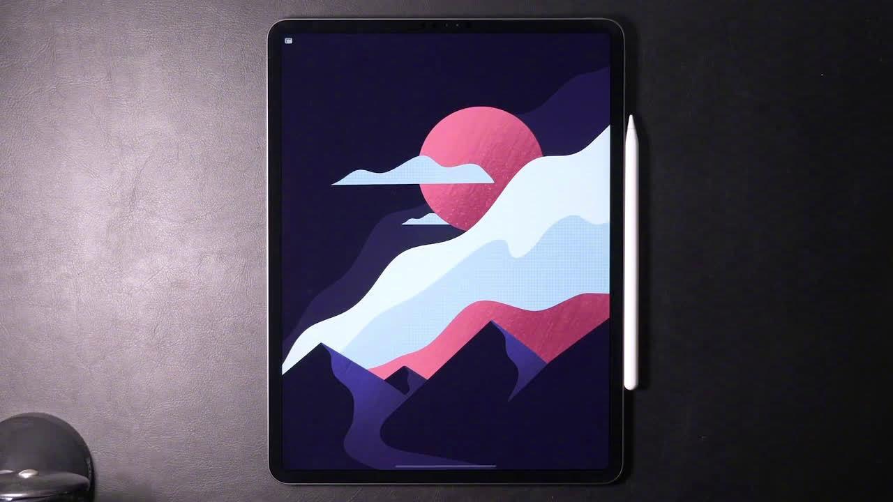 网红插画师 Gal Shir 最新发布的 iPad Pro 插绘过程视频……