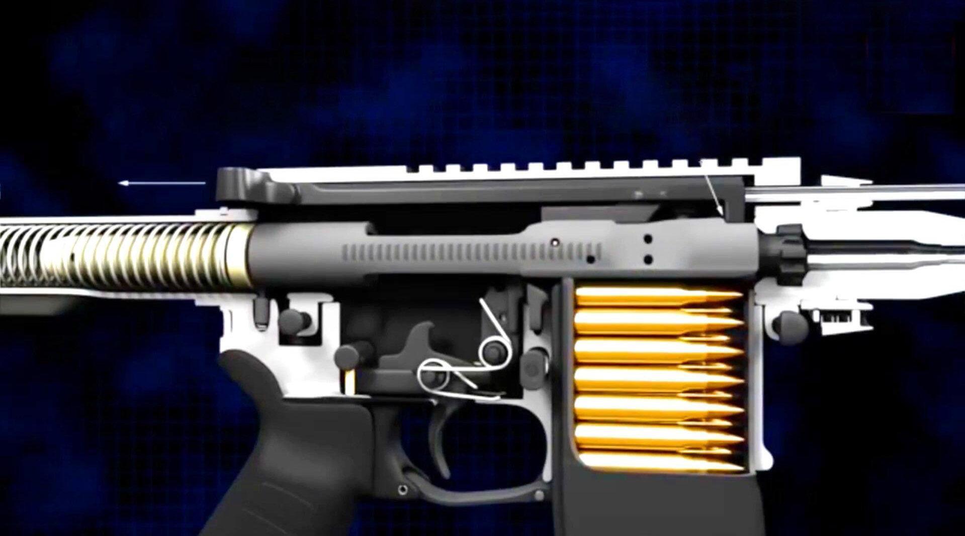 当今世界名枪之一的美国AR-15,3D动画揭示其工作原理!