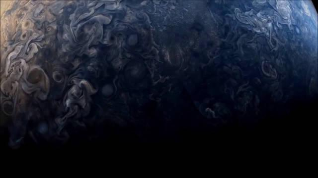 人类探索永无止境,NASA探测器朱诺号拍摄木星表面高清视频!
