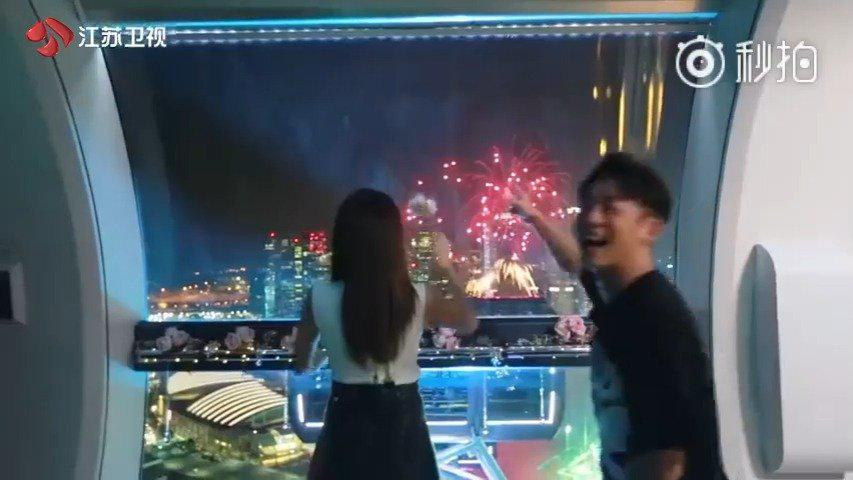 郑恺和当初在《我们相爱吧》节目里面挺甜的