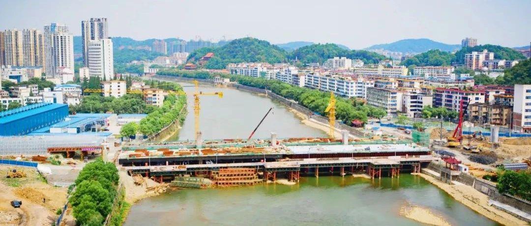 航拍高清大图!宜春秀江大桥建设最新进展来了