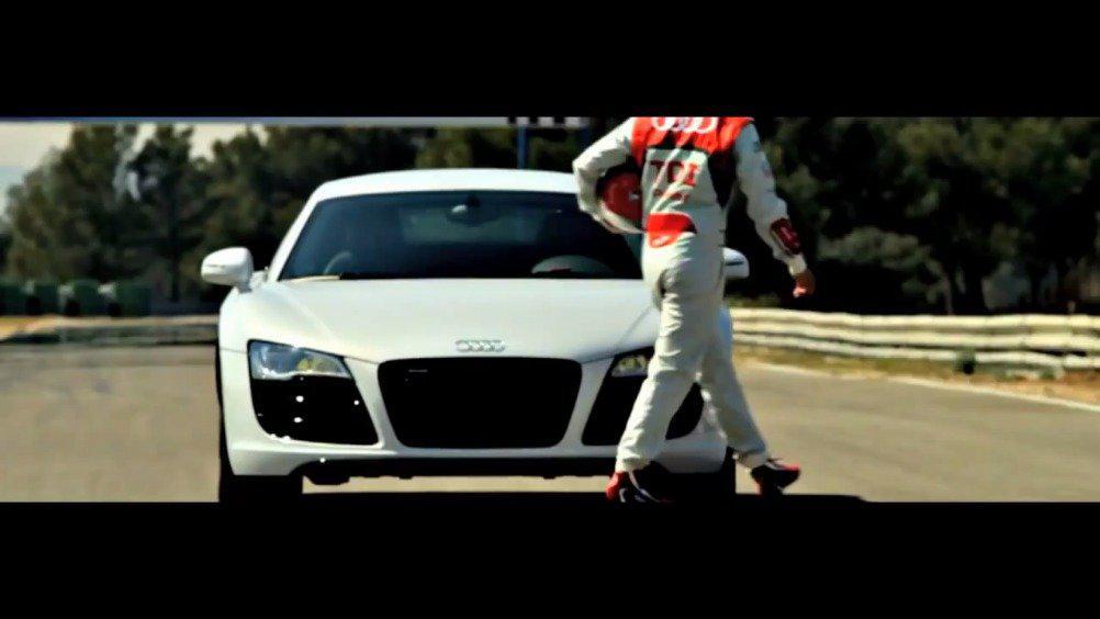 德国超跑Audi R8 精彩的漂移甩尾 德国超跑Audi R8 精彩的漂移甩