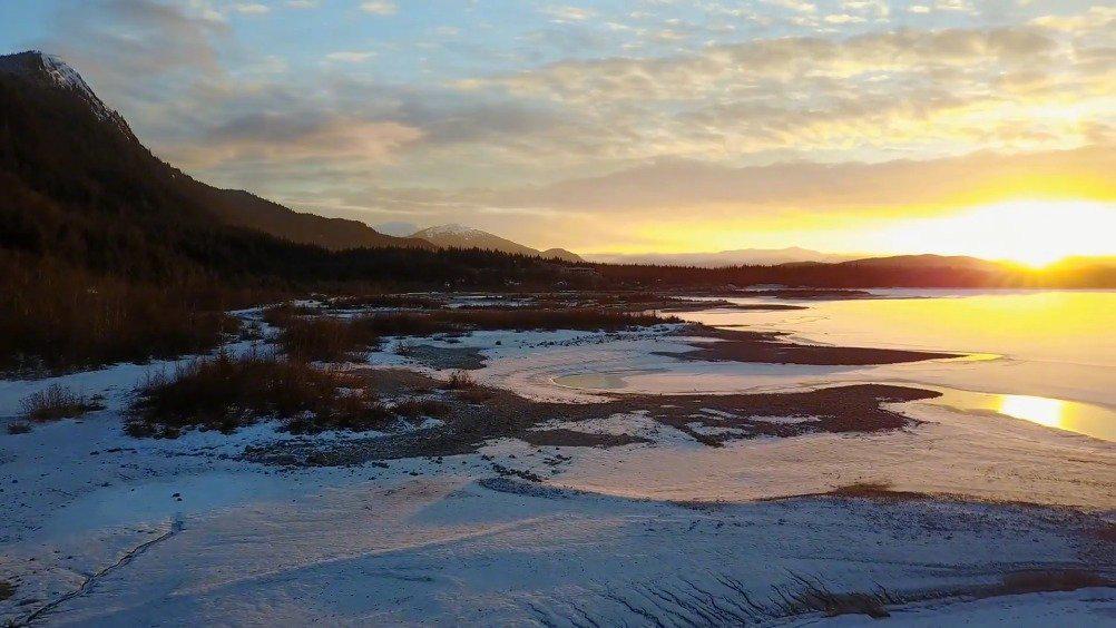 美国阿拉斯加朱诺冰原门登霍尔冰川