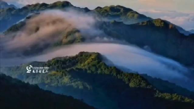 5月22日早晨7时,在红尖山气象雷达站,带你看移动的云海……