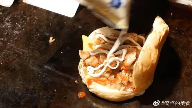 台湾街头美食,台南必吃大东夜市铁板烧沙威玛