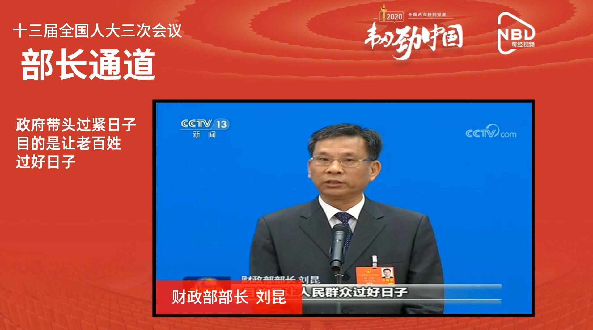 AI主播看两会 | 财政部部长刘昆:政府带头过紧日子……