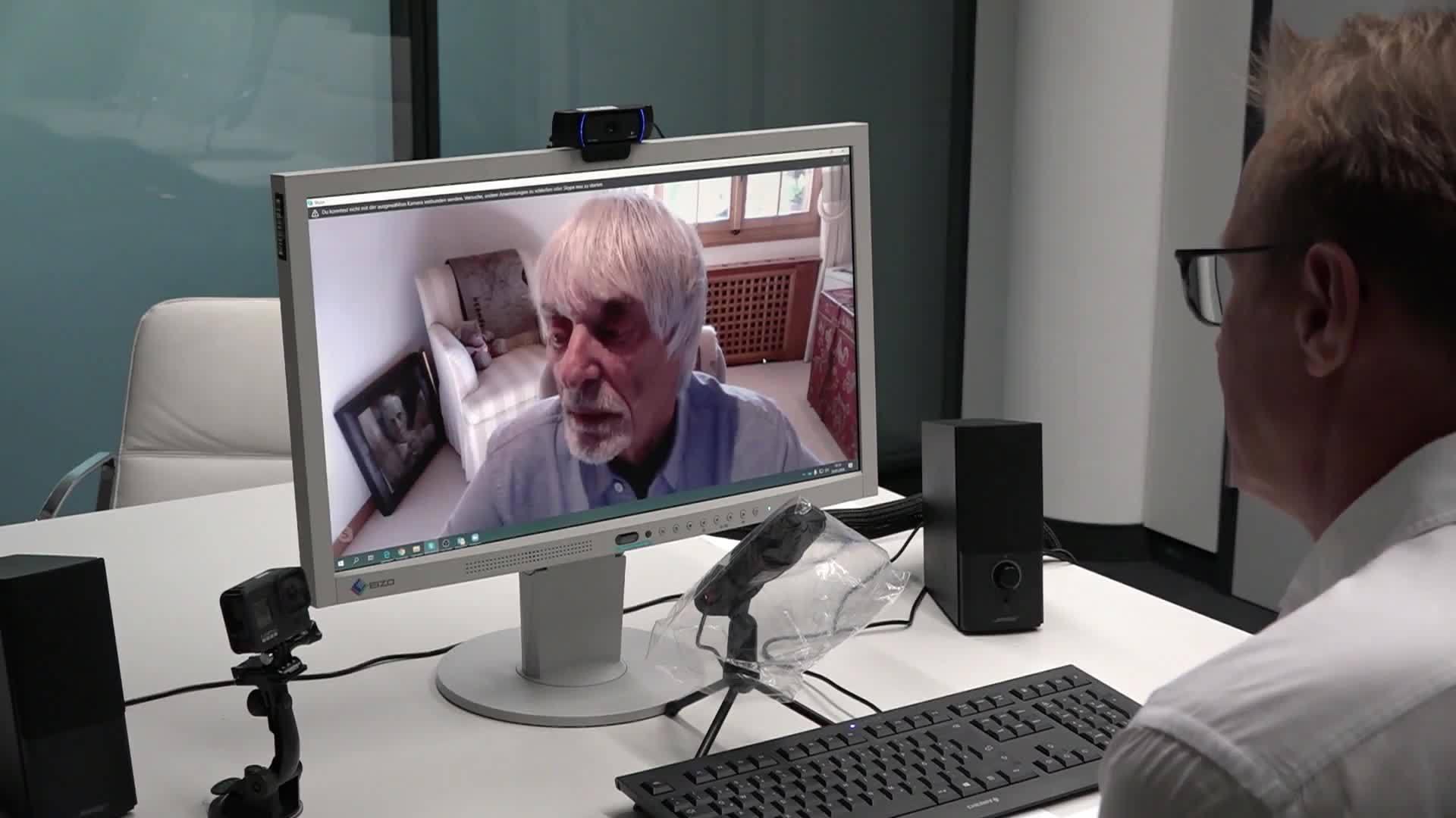 前F1老板伯尼接受RTL在线采访的视频 伯尼在被问及汉密尔顿搭档维