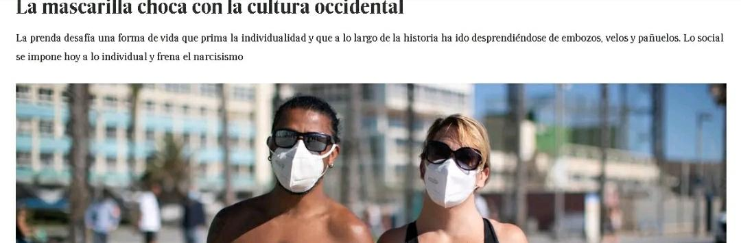 西方人为什么不喜欢戴口罩?西班牙《国家报》认为……