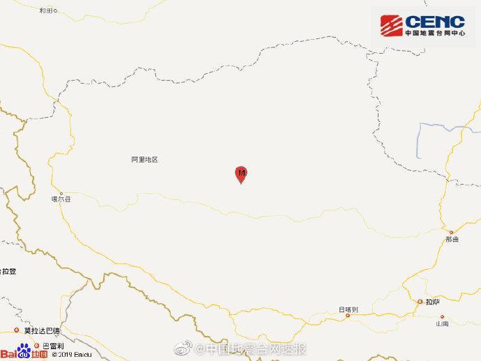 「摩天代理」地摩天代理区改则县发生47级地震震源图片