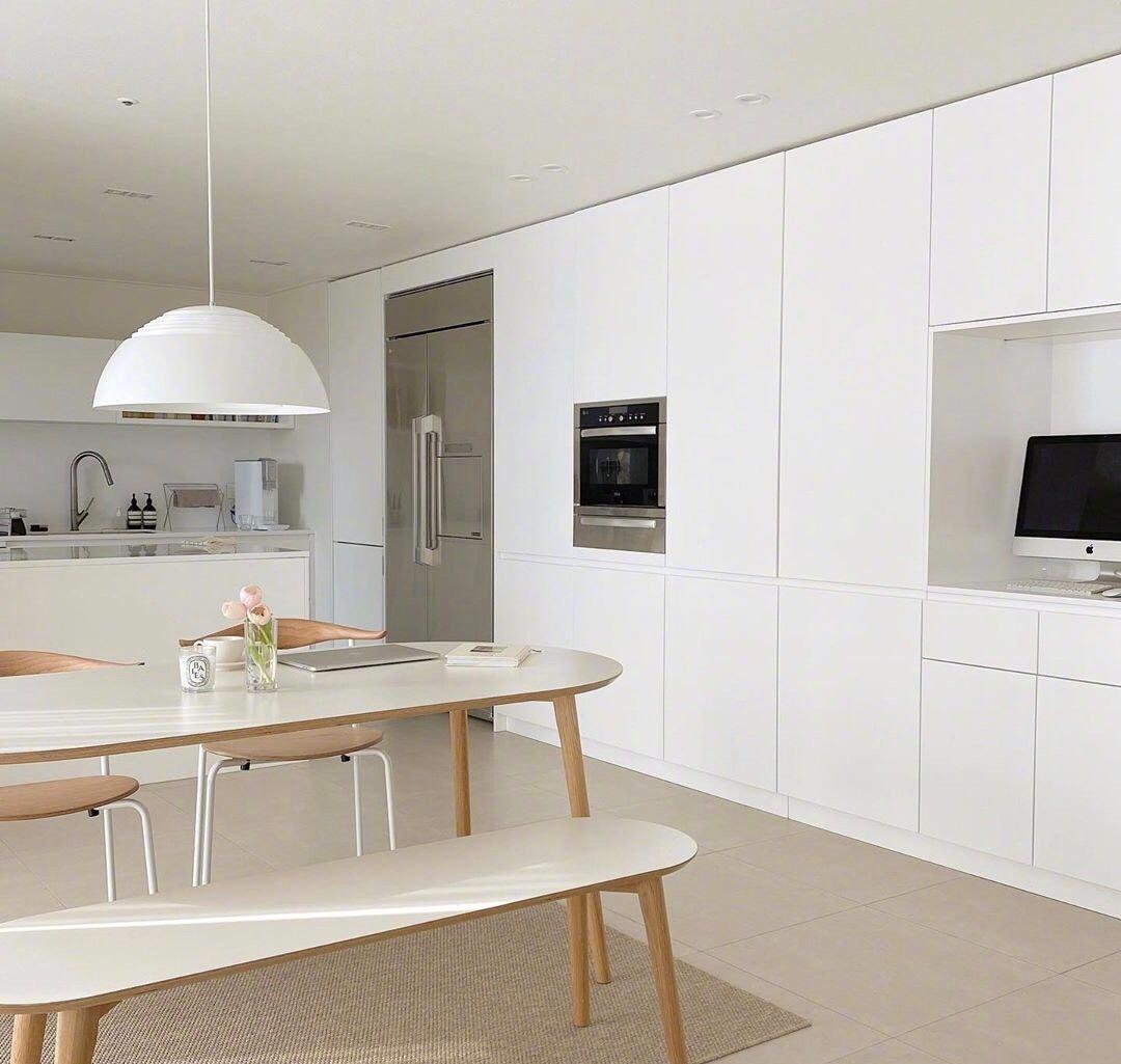 梦想中的纯白色系韩风简约房间 以白色为主色调的家居布置 干净整