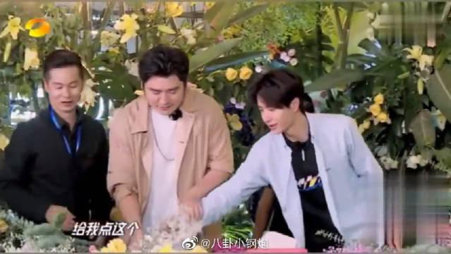 钱枫&王一博抢花,像极幼儿园的小盆友,全靠手速?