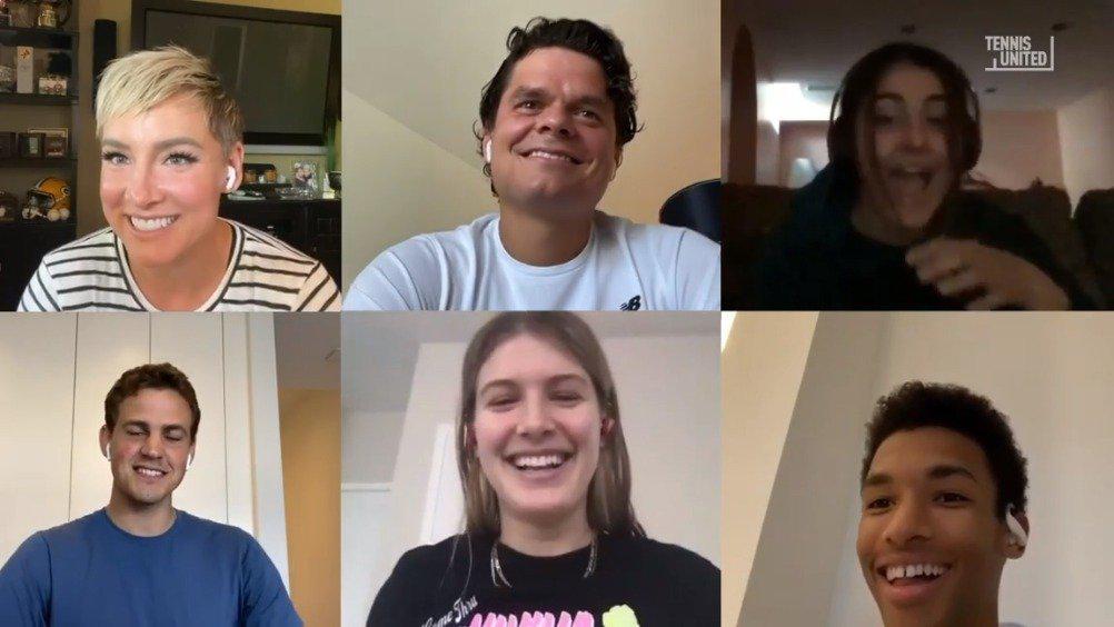 🇨🇦加拿大帮(拉奥尼奇、布沙尔、安德莱斯库、阿利亚西姆)在本周《网球集结秀》节目中大玩真心话挑战!