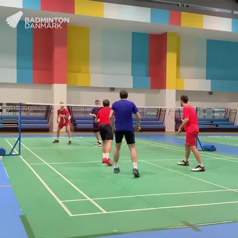 丹麦队3v3训练