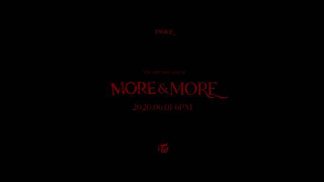 """200525 官推更新 TWICE(트와이스) """"MORE & MORE"""" M/V TEASER tv"""