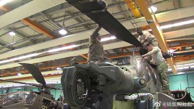 """直升机如何维修?带你走进""""阿帕奇""""武装直升机的维修工厂!"""