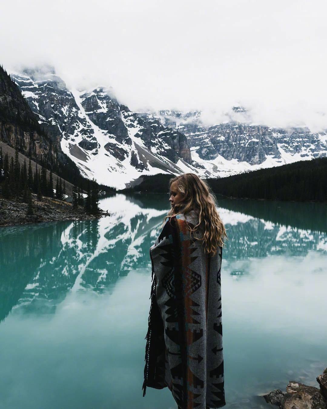 加拿大 班夫国家公园 Moraine Lake