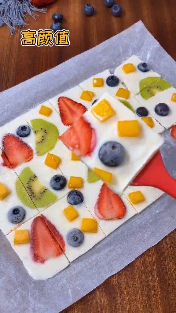 酸奶水果薄脆,这样做,非常好吃,适合春夏吃哦