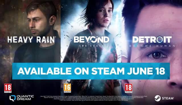 Quantic Dream工作室的三部曲《暴雨》、《超凡双生》、《底特律