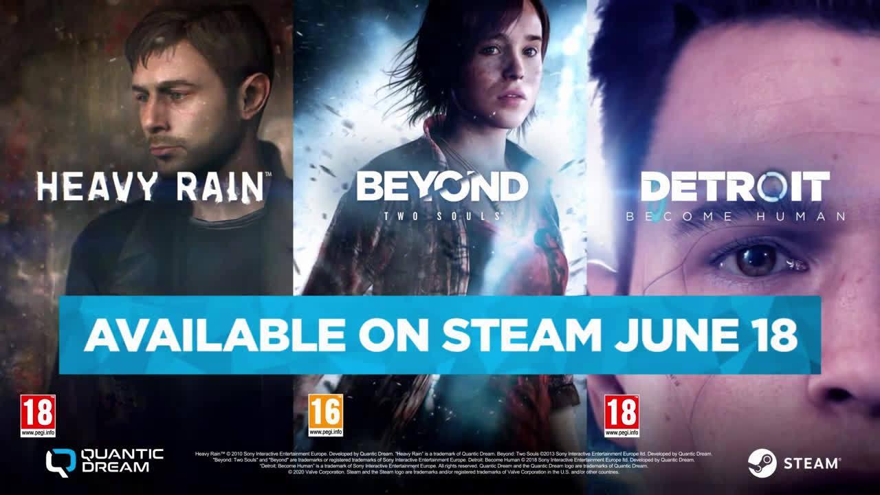 Quantic Dream宣布《底特律:成为人类》、《超凡双生》、《暴雨