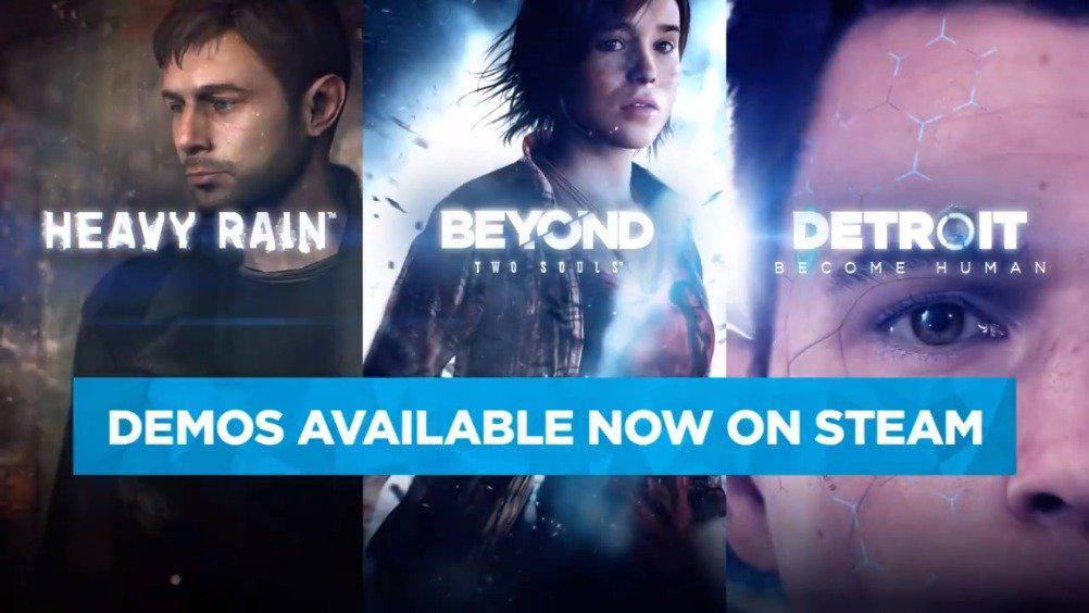 《底特律:成为人类》《超凡双生》《暴雨》将于6月18日登陆steam