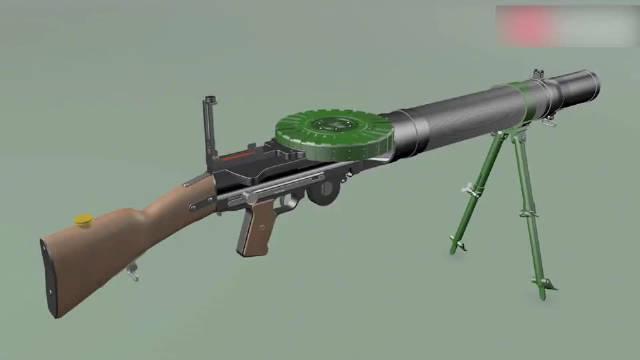 3D动画演示里程碑式的轻机枪——刘易斯航空机枪的工作原理!