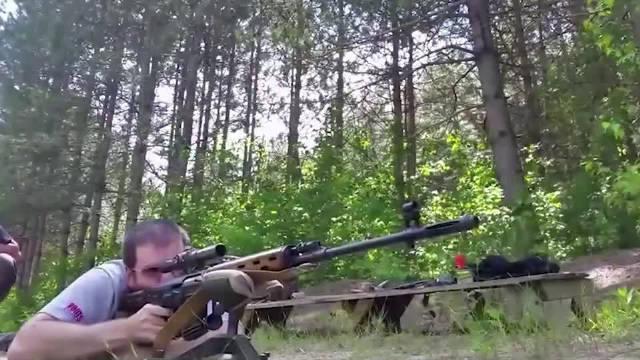 RPK轻机枪与dragunov狙击步枪,打靶射击PK,全部百发百中