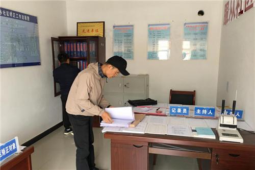 东丽区司法局援派干部验收司法所规范化建设