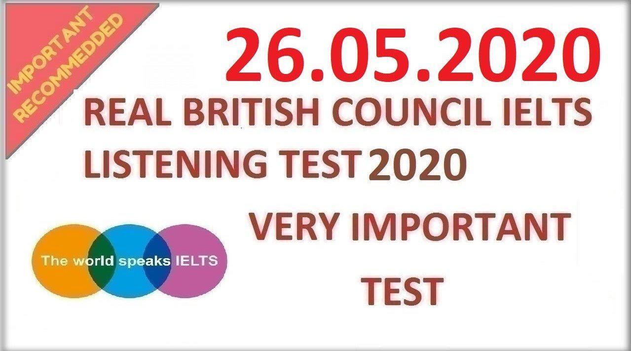 英国文化协会:雅思听力真题模拟20200526(听力原文+答案)