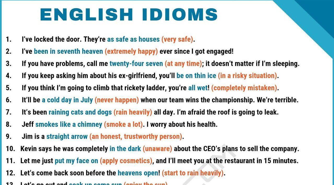 日常英语对话中经常用到的90个俚语