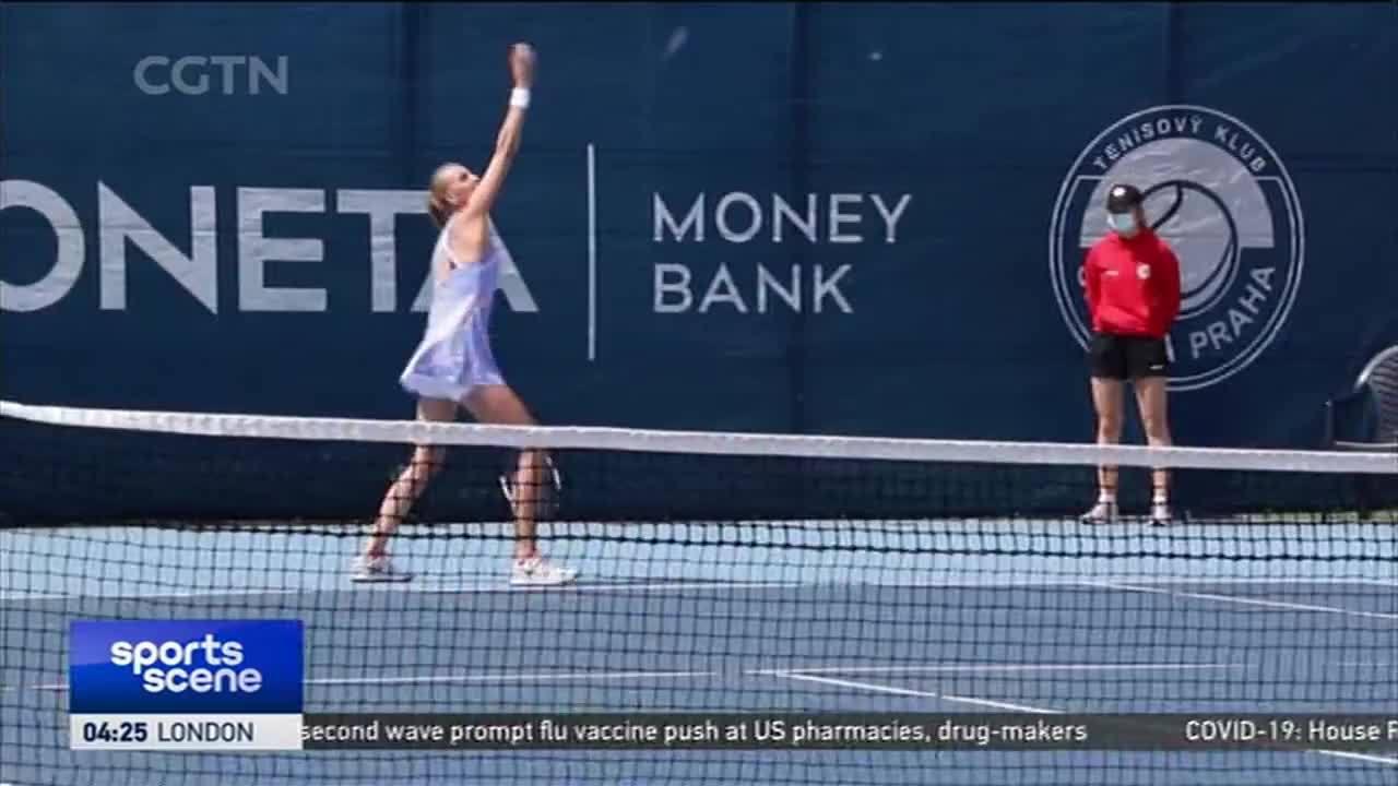 布拉格表演赛-科维托娃 7-6、6-2击败克雷吉兹科娃晋级半决赛