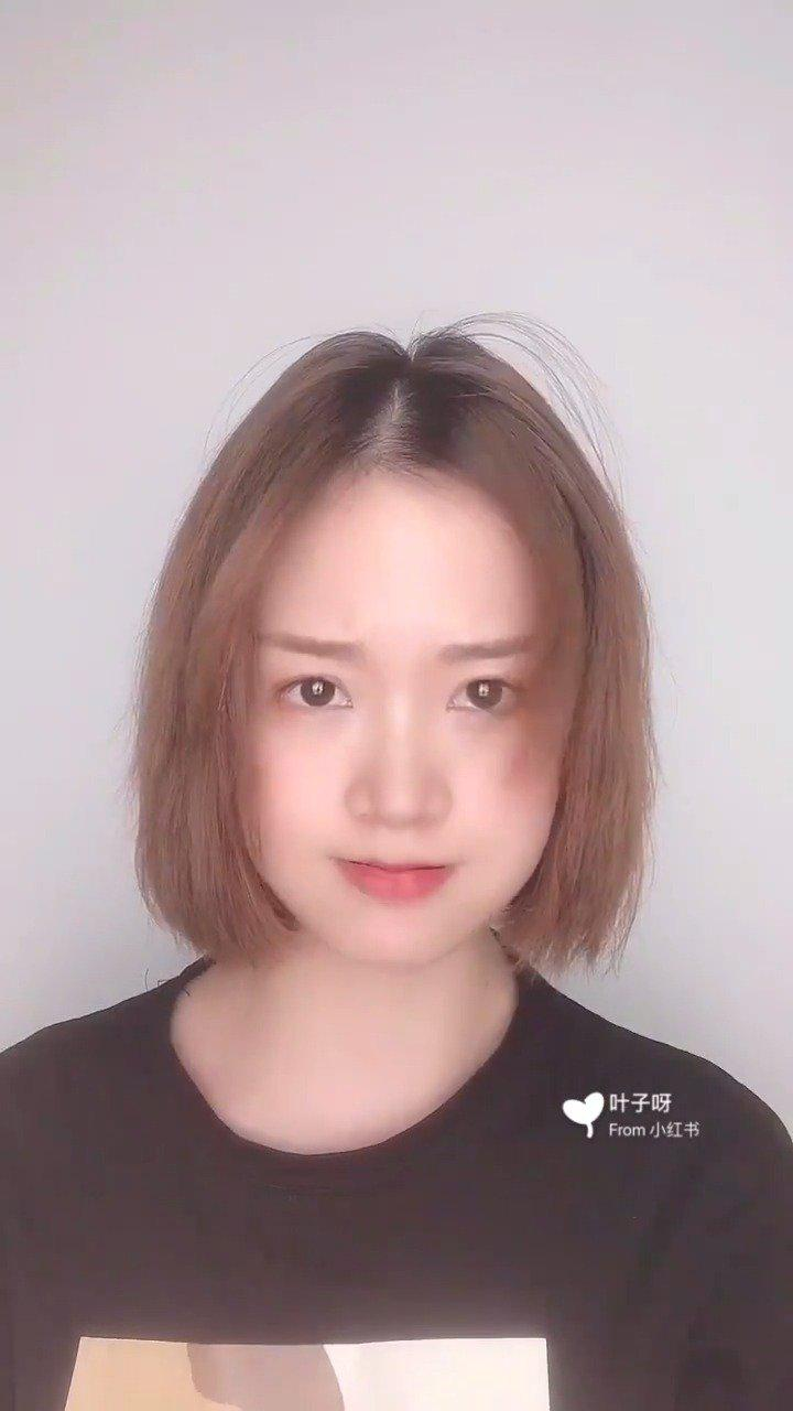 爱心丸子头-厚刘海也能扎上去-刘海尴尬期