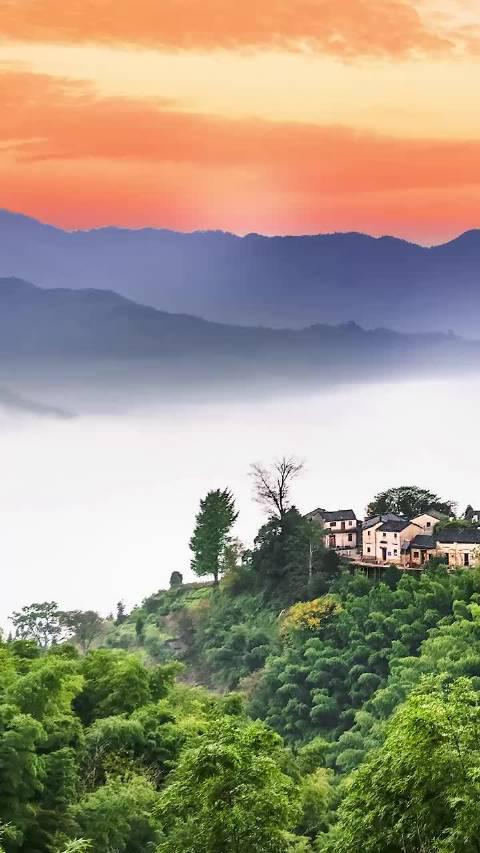 """这应该就是所谓的天上人间吧!被誉为""""黄山最美的高山村落"""""""