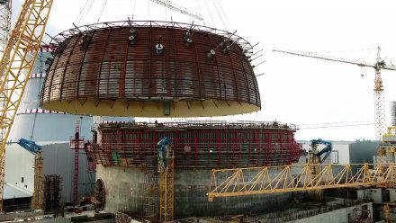 吊装电站反应堆保护罩, 重达308吨,难得一见的大场面