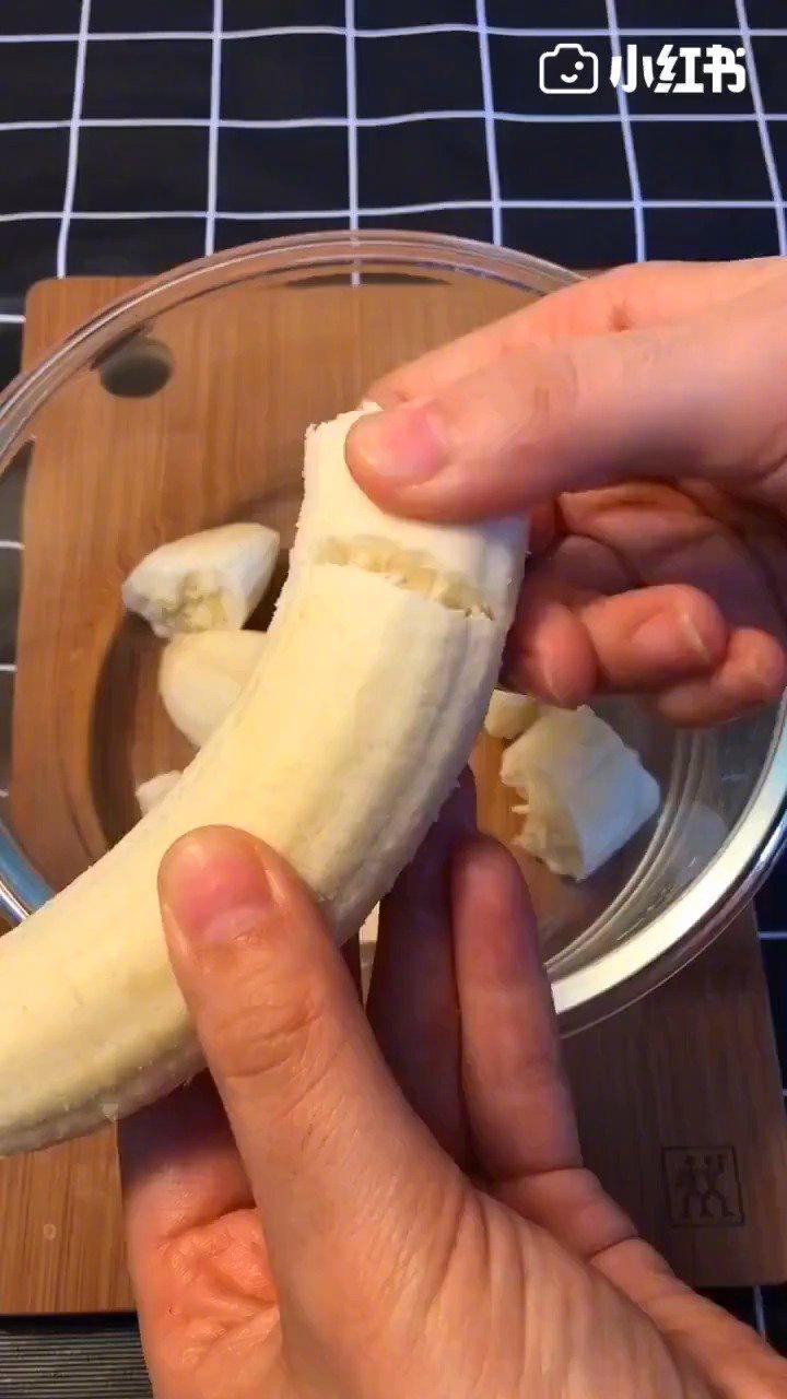 无油香蕉松饼,好吃不发胖,味道美滋滋!!