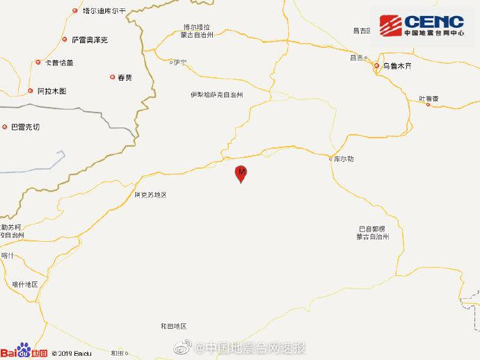 「杏悦注册」库车市杏悦注册发生31级地震图片