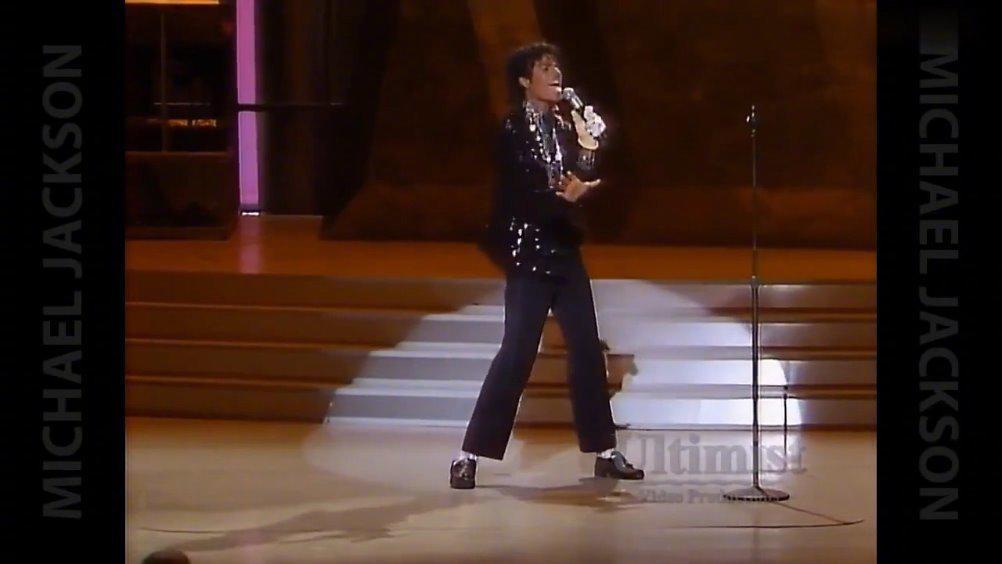 《Billie Jean》震撼现场,25岁迈克尔杰克逊第一次跳太空步……