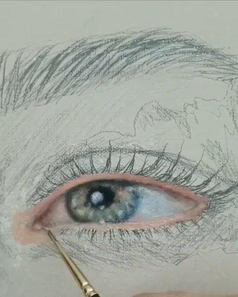 治愈的眼部水彩上色 :kassovisuals