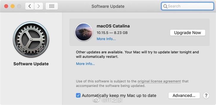 更新macOS Catalina 10.15.5后,用户更难忽略软件更新了