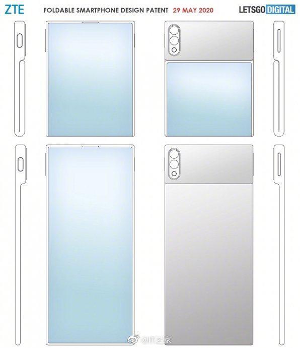 中兴折叠屏手机专利曝光:柔性屏翻盖式设计