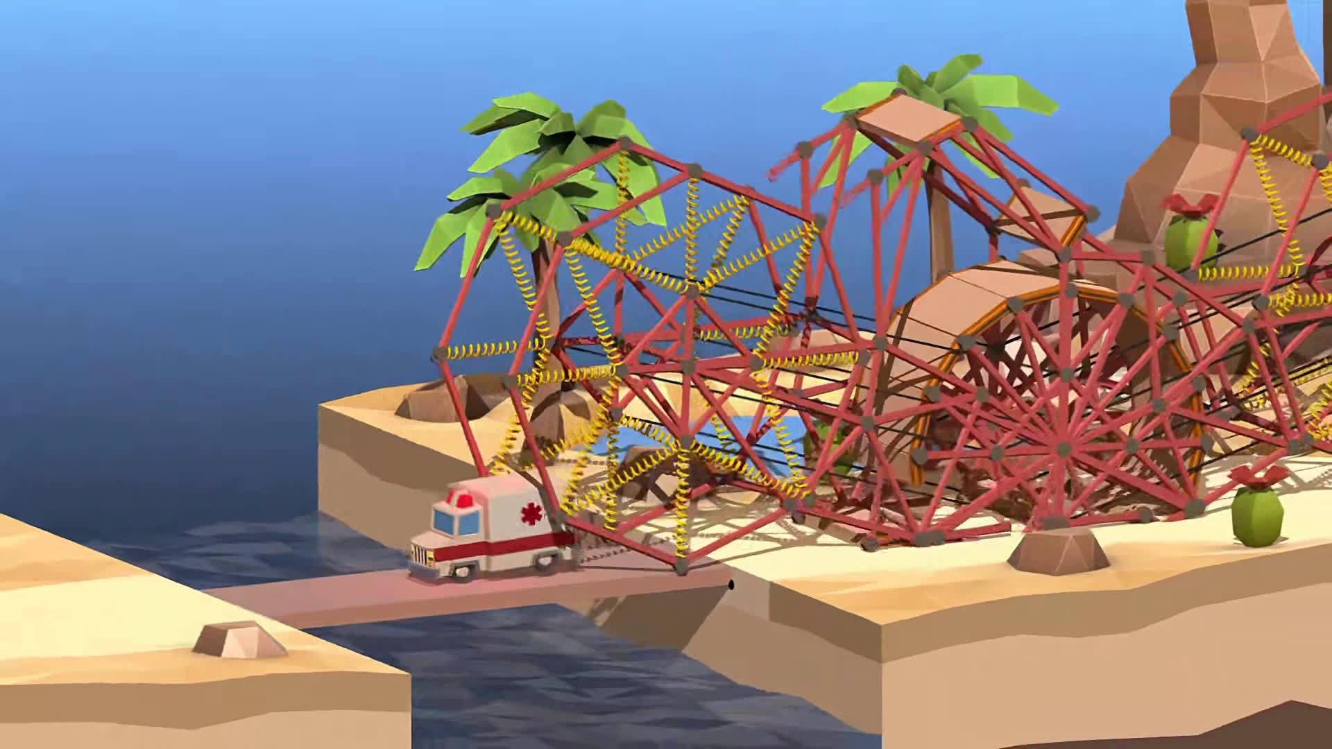 桥梁建设模拟游戏《桥梁设计师2》(Poly