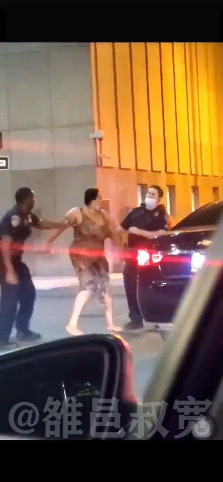马里兰州巴尔的摩(Baltimore)警长当街闪电出拳KO一名黑人妇女!