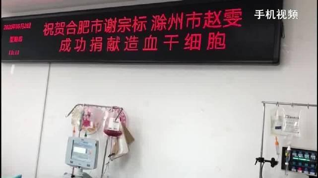 全椒实验幼儿园教师赵雯成功捐献血干细胞归来