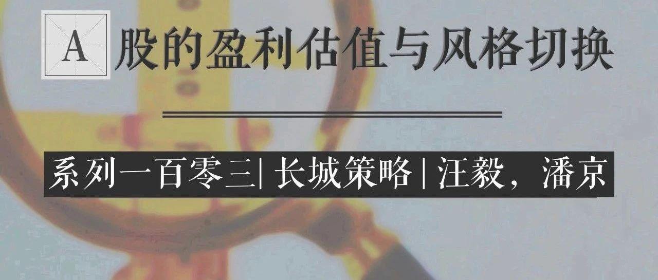 长城策略 | 汪毅,潘京| 海外政治和经济压力仍存——A股的盈利估值与风格切换系列一百零三