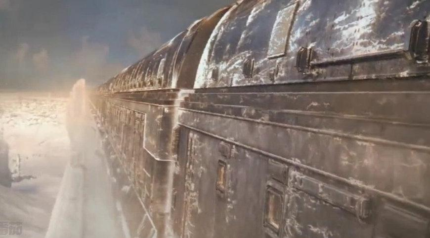 《雪国列车》剧场版第一集,莱顿从车尾来到了三等厢餐厅……