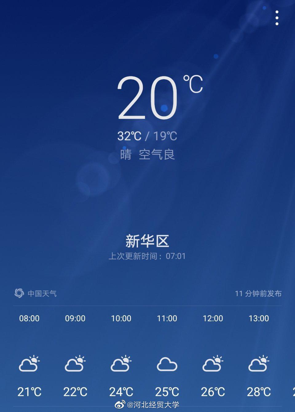 今天空气质量良好,紫外线强度也很弱,适宜出门……